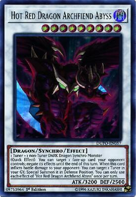 3x Hot Red Dragon Archfiend Abyss - DUPO-EN057 - Ultra Rare 1st Edition NM