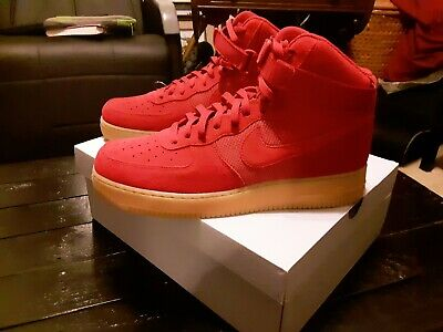 """Nike Af1 Air Force 1 High '07 Lv8 """"Gym Red"""" Gum Retro Shoes 806403 601 Size 14"""