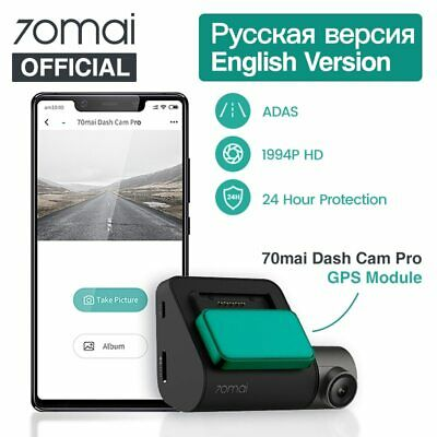 Original Xiaomi 70Mai Dash Cam Pro English Voice Control 2*1080P 1944P Car