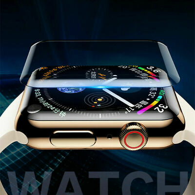 For Apple Watch Series 4 40 44MM Full Cover UV Tempered Glass Screen Protector
