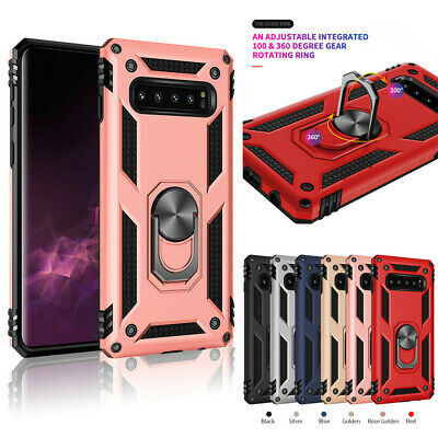 For Samsung Note 8/9 S10e S9 S8+ Shockproof Military Armor Stand Ring Hard Case