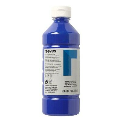 Reeves Redimix Poster Paint - 500ml Brilliant Blue