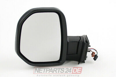 Specchietto SX, Lato Conducente, Nero, Citroen Berlingo 7 04/08-02/12 Merce