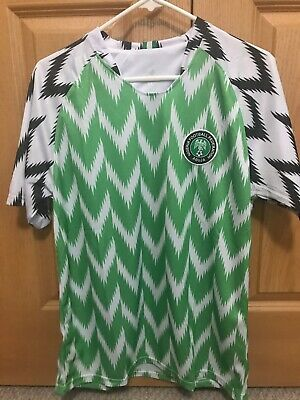 check out 9b4bc 7e0c8 REPLICA NIGERIA 2018 WC Home Jersey Nike Mens Large NWT ...