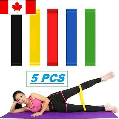 NEW Resistance Loop Bands Set of 5 Exercise Yoga Fitness (CANADA SELL)2019