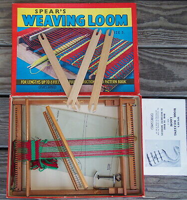 Spear's Wood Weaving Loom Shuttles & Clamp Made in England Size 3