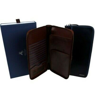 Quality Italian Leather Stylish RFID Protected Travel/Document Wallet by Viscont