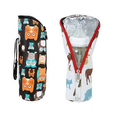 Portable Insulated Cover Multifunctional Baby Feeding Bottle Bag Winter 2Pcs