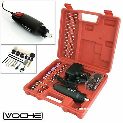 Voche® 60Pc 240V Hobby Rotary Mini Tool Drill Grinder + Carry Case + Accessories