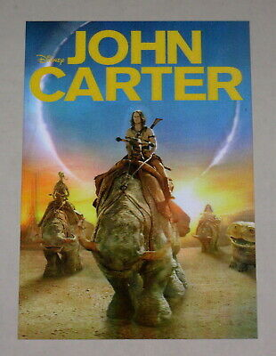 Disney Movie Club 3D Lenticular Card John Carter RARE collector's