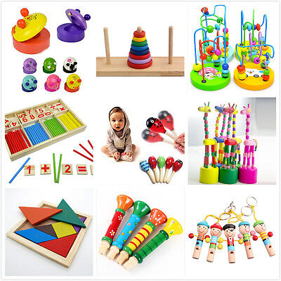 Wooden Toy Gift Baby Kids Intellectual Developmental Educational Early Learn kd