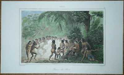 1837 print BRAZIL: DANCE OF PURI INDIANS (#76)