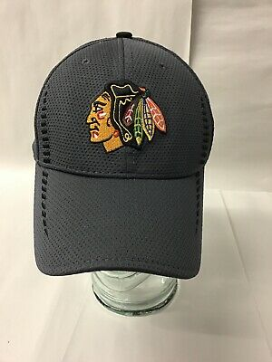 super popular 18e22 d59ad Chicago Blackhawks Hat NEW ERA 39THIRTY Chrome Tech S M Gray Fitted Cap