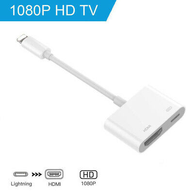 Lighting to HDMI Adapter Cable Digital AV TV For iPhone 6/7/8 Plus iPad 1080P CN