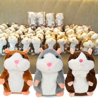 Talking Hamster Mouse Pet Plush Toy Cute Speak Sound Record for Children Baby