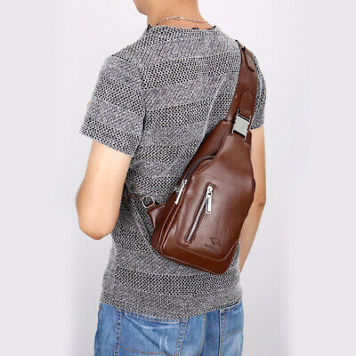 Jeep Mens Leather Soft Shoulder Messenger Bag Crossbody Satchel Travel Man's Bag
