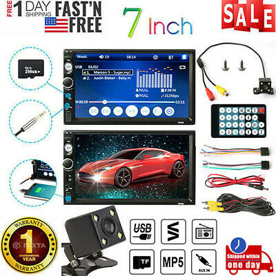7 Inch Car Radio Stereo Double 2DIN FM DVD USB/MP5 Player Touch Screen + Camera
