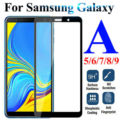 For Samsung Galaxy A9 A7 A6 A8Plus 2018 Tempered Glass Screen Protector Cover Yo