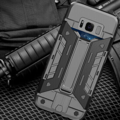For Samsung Galaxy S8 S9 Plus Note8 Shockproof Carbon Fiber Slim Hard Armor Case