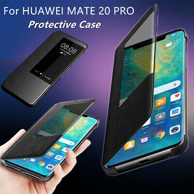 Huawei Mate 20 Pro Case with Luxury Smart View window Flip Cover Full Protect AU