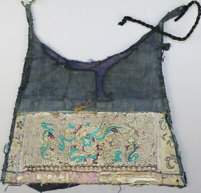 Tribal exotic chinese ethnic minority people's old hand embroidery