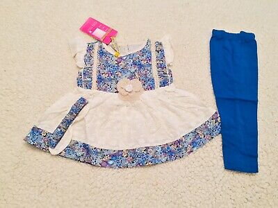Little Baby Girls Designer Inspired Pakistani Indian Frock Outfit