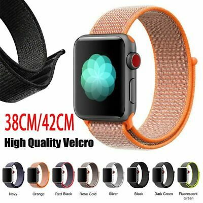Für Apple Watch Armband Nylon Uhrenarmband Sport Loop Armband Series 1/2/3/4 DE