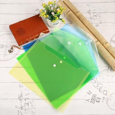 Plastic Transparent A4 Carry Folders Document Paper File Storage Bag WST 02