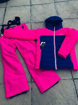 New Girls Dare2B Ski Suit, Ski Jacket & Ski Trousers, Cyber Pink, Age 15-16
