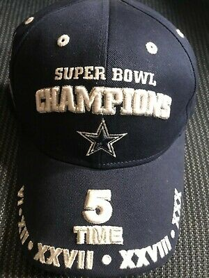 382987594356de NFL 5-TIME X Super Bowl Champions DALLAS COWBOYS Cap Hat *New with ...