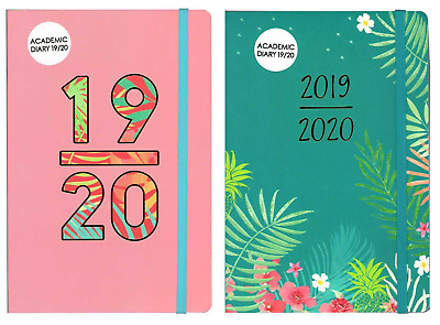 A5 Academic Diaries Week To View Natural Design Student Diary Mid Year 2019-20
