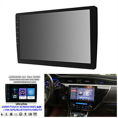 """10.1"""" 1080P Ultra-Thin Android 8.1 Quad-Core 32GB Car Navigation GPS Wifi MP5"""