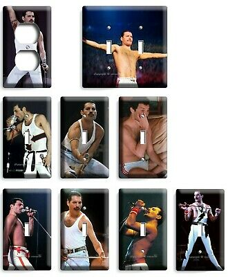 Freddie Mercury Queen Light Switch Outlet Wall Plates Collection Room Art Decor