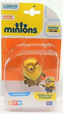 Despicable Me Minions Bored Silly Stuart Collectible Mini Poseable Figure Toy