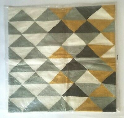 West Elm Abstract Minimal Shag Rug  Art  Pillow Cover NWT 20x20  Multi Color