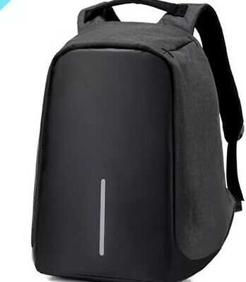 Anti-theft Mens Unisex USB with Charger Port Backpack Laptop Notebook Travel Bag