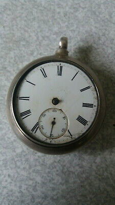 Antique Sterling Silver Pocket Watch - Pair Cased- London 1874