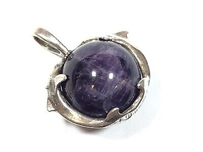 Beautiful Ladies Sterling Silver Purple Amethyst Dolphin Necklace Pendant