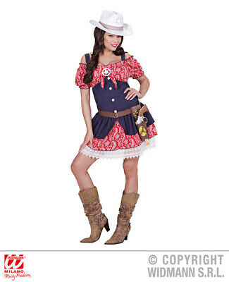 Ladies Womens Cowgirl Dress for Rodeo Cowboy Wild West Fancy Dress Costume