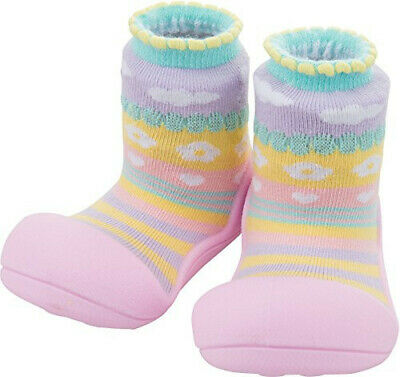 Attipas Attibebe Pink (Size S) Baby Sock Shoes Brand New In Box