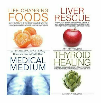 P-D-F. Medical medium 4 Books SET Anthony William Thyroid healing liver rescue