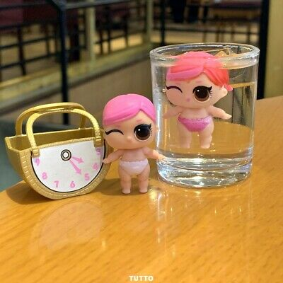 LOL Surprise dolls LiL Sisters L.O.L. Hops SERIES 2 pink hair toys With bag