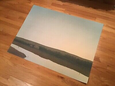 RUSSELL CHATHAM Original Giant Lithograph Sunrise Over Farm Signed #'d Mt Artist