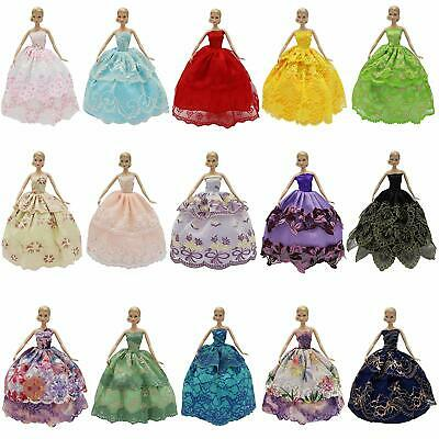 "Lot 6PCS Fashion Party Dresses for 11.5"" Girl Doll Evening Wedding Outfits Gift"