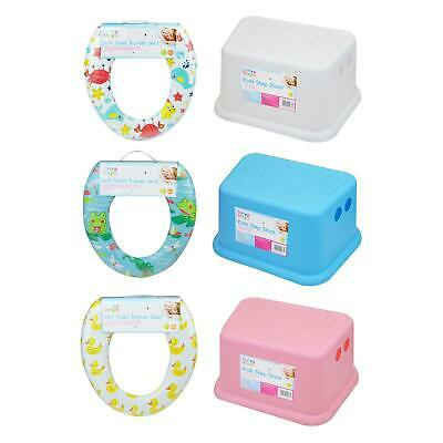 Children Toddler Kids Potty Training Set Soft Padded Toilet Seat Step Stool