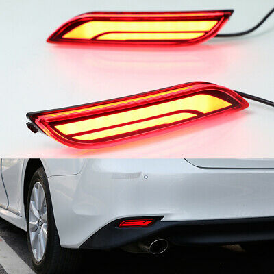 Led Rear Bumper Brake Tail Fog Light Sequential Turn Signal For