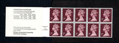 70p 'DRY STONE WALLING' BOOKLET LEFT MARGIN SG FD4A CYLINDER 11 DOT Cat £165