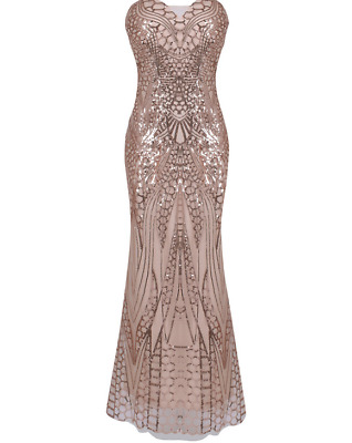 1920s Flapper Costume Great Gatsby Party Fancy Prom  Evening Long Sequin Dresses