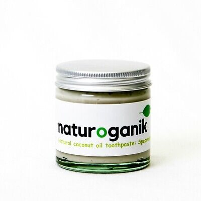 4 Jars Of Natural Coconut Oil Toothpaste with Spearmint Freshness (60 ml)