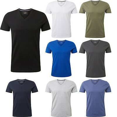 TOM TAILOR Denim Herren Sommer T-Shirt V-Neck Basic Baumwolle 108172